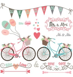 Wedding Bike Elements vector image