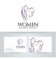 Women logo design vector