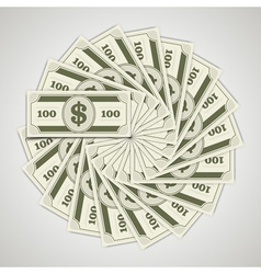 Circle from dollars money vector image