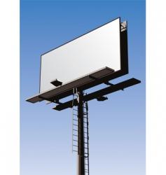 billboard sign vector image vector image