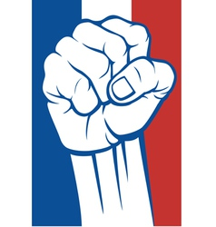 france fist vector image vector image
