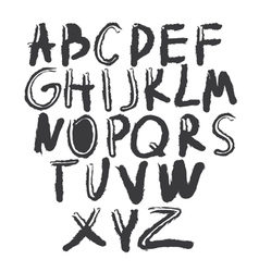 Hand drawing letters vector image