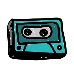 audio cassette doodle icon image vector image vector image
