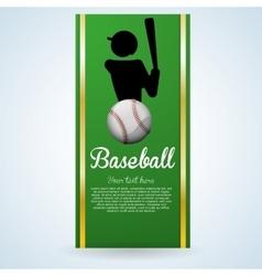Baseball design sport icon flat vector image