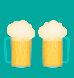 beer cup flat vector image vector image