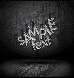 grungy old typography vector image