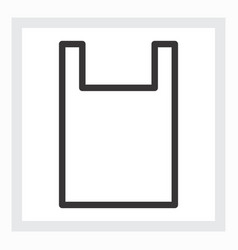 minimal shopping bag icon vector image vector image