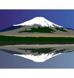 Mt Fuji vector image vector image