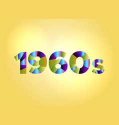 1960s concept colorful word art vector