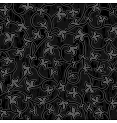 floral oriental black isolated seamless background vector image vector image