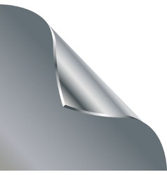Folded edge of the sheet Silver vector image vector image