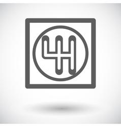 Gear single icon vector