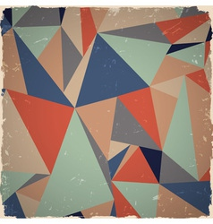 Geometric grunge background vector image vector image