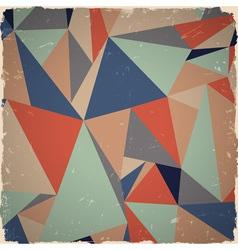 Geometric grunge background vector image vector image