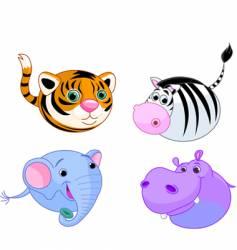 safari animal set vector image vector image