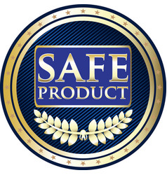 Safe product icon vector