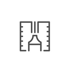 sealant line icon vector image