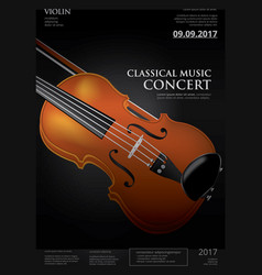 the classical music concept violin vector image vector image