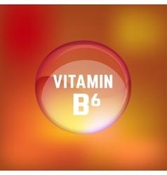 Vitamin B6 02 B vector image vector image