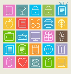 25 Trendy Thin Icons Set 2 vector image