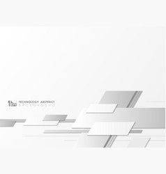 abstract gray and white tech cover geometric vector image