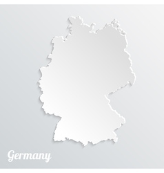 Abstract icon map of Germany on a gray background vector