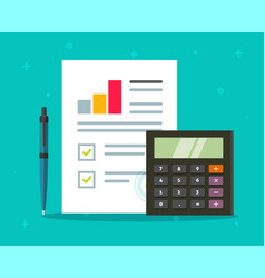 accounting audit paper report with sales stats vector image