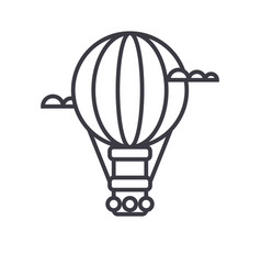 air balloonaerostat line icon sign vector image