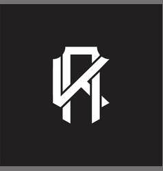 Ak logo monogram design template vector