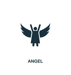 Angel icon creative element design from easter vector