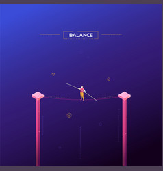 balance concept - modern isometric web vector image