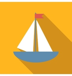 Boat colored flat icon vector image