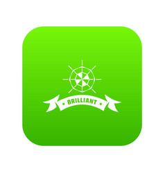 Brilliant icon green vector