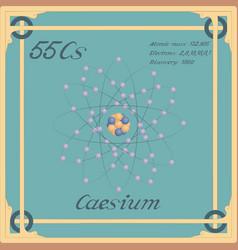 Caesium colorful icon vector