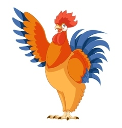 cartoon greeting rooster vector image
