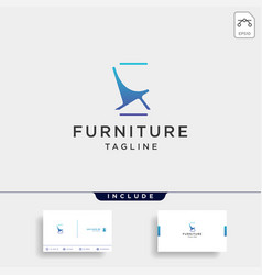 Chair logo design icon icon isolated vector