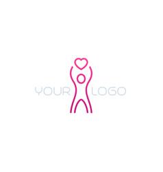 charity line logo vector image
