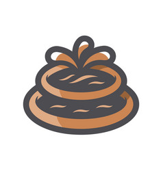 chocolate fountain sweetness icon cartoon vector image