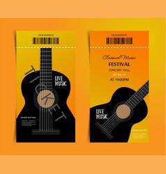 classic music festival ticket design template vector image