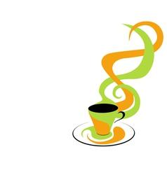 coffee green and orange vector image