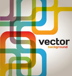 Colorful abstract lines vector