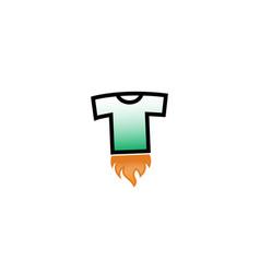 creative t-shirt silkscreen fire logo symbol vector image