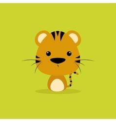 Cute Cartoon Wild tiger vector