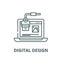Digital design line icon linear concept vector