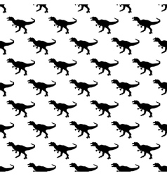 Dinosaurs jurassic pattern seamless vector image