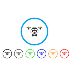 drone cannabis delivery rounded icon vector image vector image