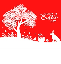 easter land red vector image