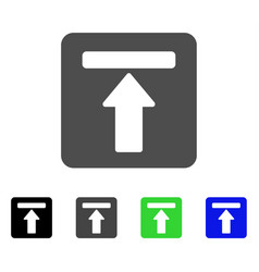 Expand menu flat icon vector