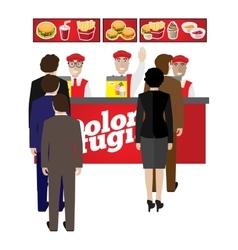 Fastfood banner vector