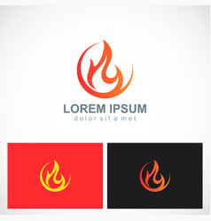Fire icon flame logo vector